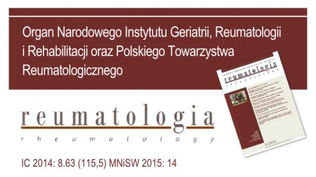 Mamy dobrą wiadomość dla wszystkich Autorów, Recenzentów i Czytelników czasopisma Reumatologia !