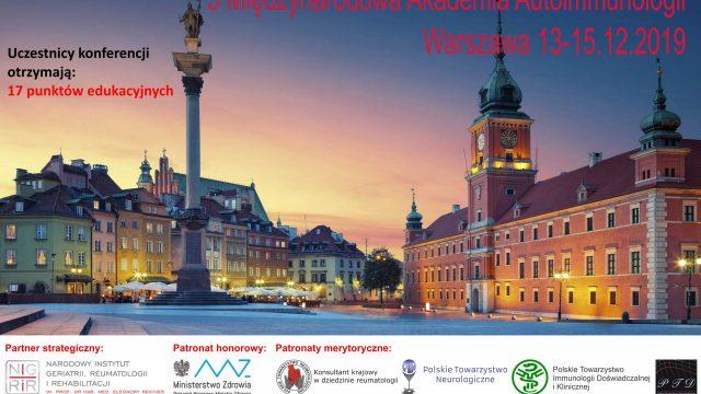 5 Międzynarodowa Konferencja Akademii Autoimmunologii w Warszawie już w najbliższy piątek