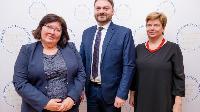 Nagroda Pielęgniarska Królowej Sylwii 2018 – przedstawiciele NIGRiR na uroczystości w Ambasadzie Szwecji