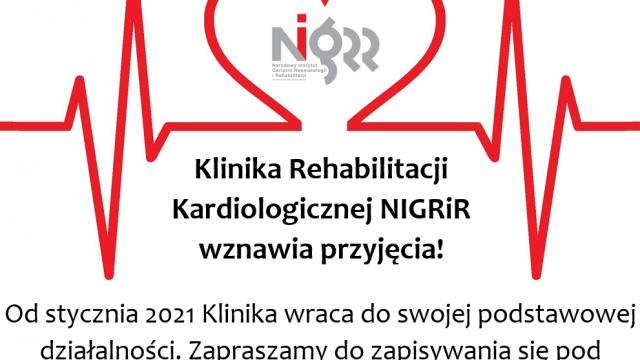 Klinika Rehabilitacji Kardiologicznej wznawia przyjęcia
