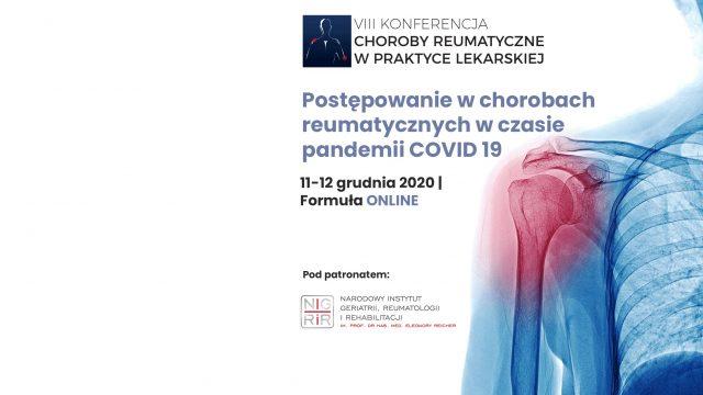 """Konferencja: """"Postępowanie w chorobach reumatycznych w czasie pandemii COVID 19"""""""