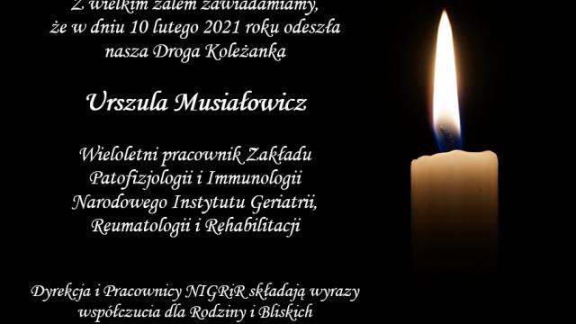 Śp. Urszula Musiałowicz