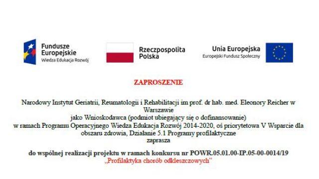 OGŁOSZENIE O OTWARTYM NABORZE PARTNERÓW  do wspólnej realizacji projektu w ramach konkursu nr POWR.05.01.00-IP.05-00-0014/19 Profilaktyka chorób odkleszczowych