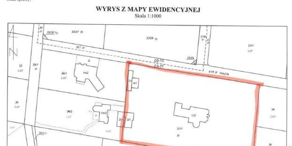 Przetarg pisemny nieograniczony na sprzedaż zabudowanej nieruchomości położonej w Konstancinie – Jeziornie