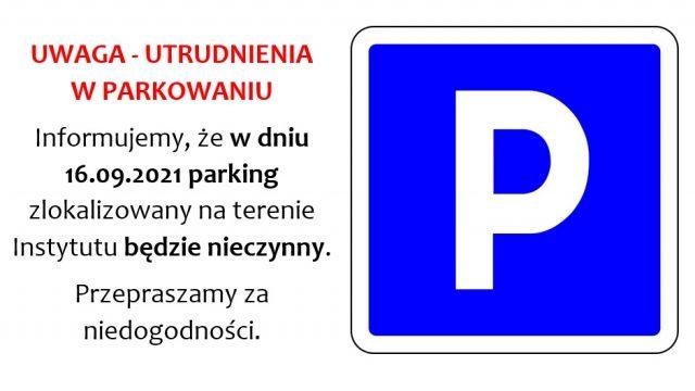 Utrudnienia w parkowaniu