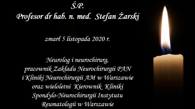 Ś.P. prof. Stefan Żarski