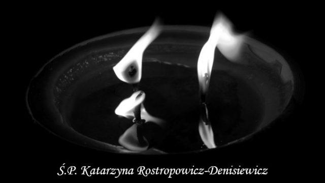 W dniu 02.09.2020 r. odeszła od nas pani profesor Katarzyna Rostropowicz-Denisiewicz – długoletni pracownik Narodowego Instytutu Geriatrii, Reumatologii i Rehabilitacji oraz kierownik Kliniki i Polikliniki Reumatologii Wieku Rozwojowego