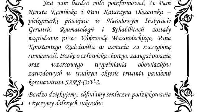 Nagroda Wojewody Mazowieckiego – Pana Konstantego Radziwiłła