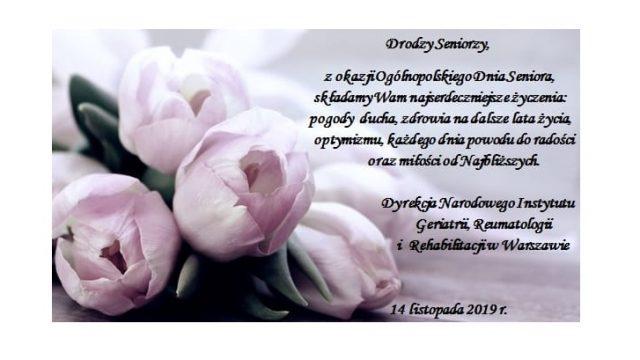 14 listopada Ogólnopolski Dzień Seniora