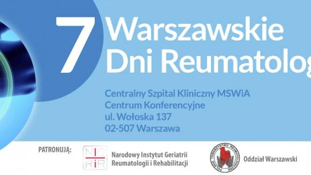 VII Warszawskie Dni Reumatologiczne pod patronatem NIGRiR