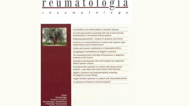 Dwumiesięcznik Reumatologia na liście MNiSW!