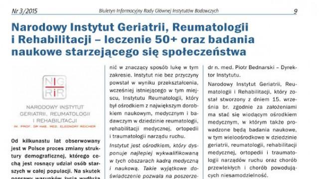 Leczenie 50+ oraz badania naukowe starzejącego się społeczeństwa