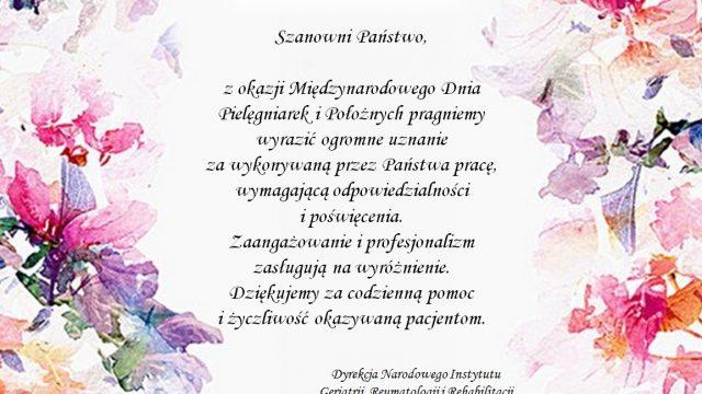 12 maja 2019r. Międzynarodowy Dzień Pielęgniarek i Położnych