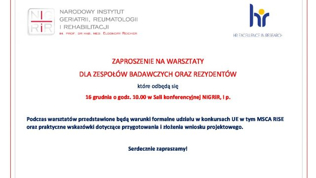 Zaproszenie na warsztaty UE